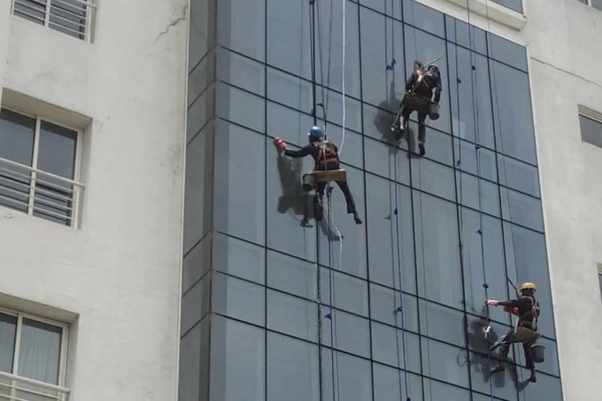 Servicing both Residential, commercial High-rise window Cleaning