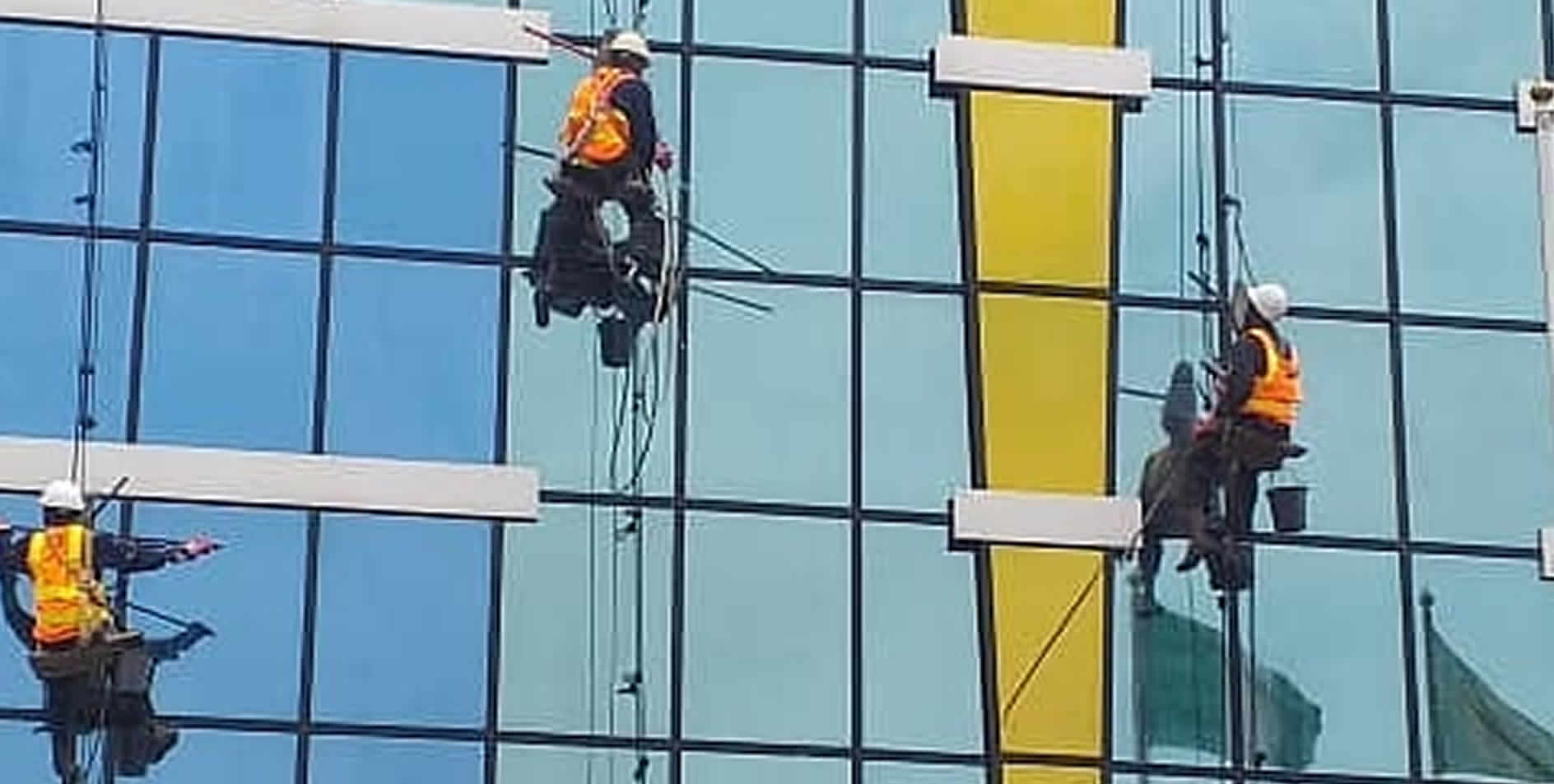 Contact chemoclean services for high rise window cleaning